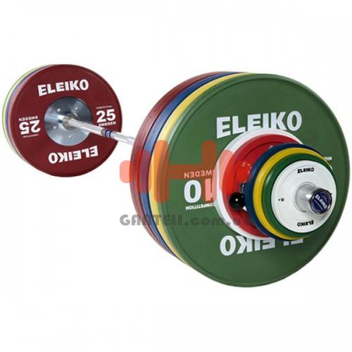Штанга Eleiko для соревнований по тяжелой атлетике мужская 190 кг. (обрезиненая), код: 3001240F