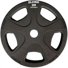 Диск обрезиненный Eleiko: для фитнеса D=50 мм. 1,25-25 кг., код: 324-0XXX