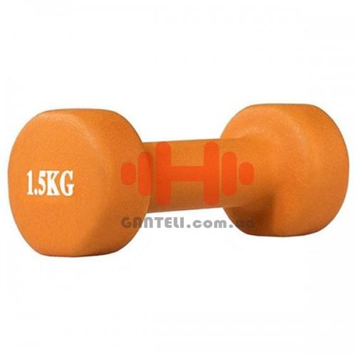 Гантель для фитнесса HMS 1,5 кг, код: 17036-15