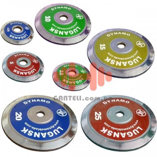Комплект дисков CrossGym 105 кг (хром D=50 мм), код: DL-DE