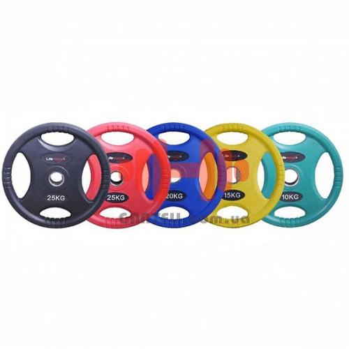 Комплект дисков Lifemaxx150 кг (обрезиненный D=50 мм), код: LMX86C