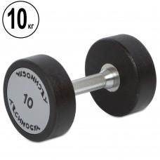 Гантель цельная профессиональная TechnoGym 1х10 кг, код: TG-1834-10