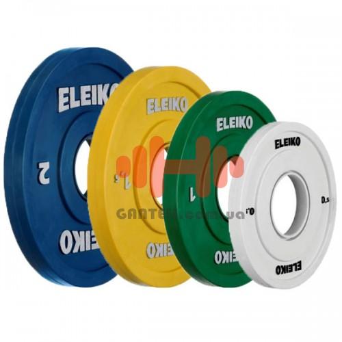 Комплект дисков Eleiko 10 кг (обрезиненный D=50 мм), код: 121-00XXF