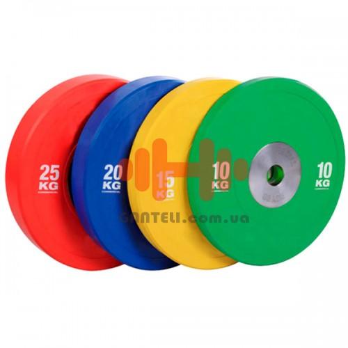 Комплект дисков Rising 140 кг (обрезиненный D=50 мм), код: PL41B-10