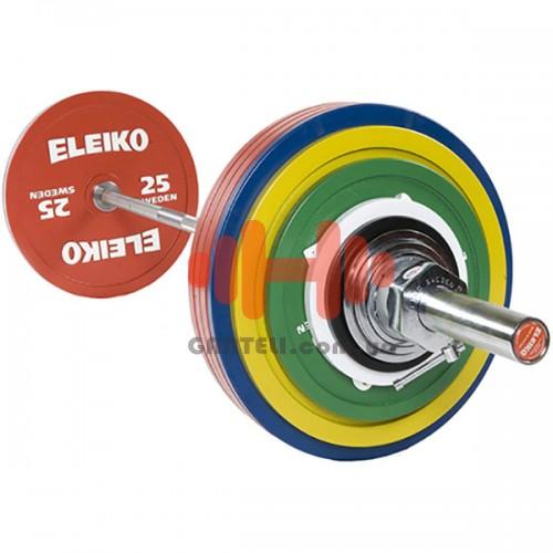 Штанга Eleiko для соревнований по пауэрлифтингу 285 кг. (железо), код: 3000230