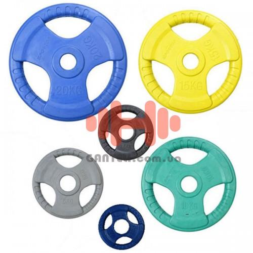 Комплект дисков Sportop 105 кг (обрезиненные D=50 мм), код: ST-002519