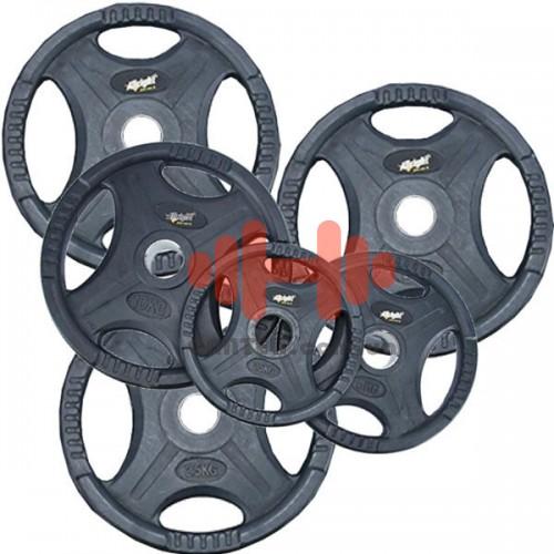 Комплект дисков AllRight 105 кг (обрезиненные D=50 мм), код: AL899