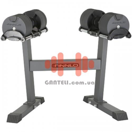 Гантели со стойкой Finnlo Smart Lock 2x32 кг, код: F-6774