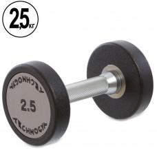 Гантель цельная профессиональная TechnoGym 1х2,5 кг, код: TG-1834-2_5