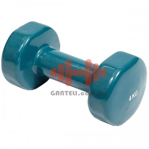 Гантель с виниловым покрытием HouseFit 1x4 кг, код: DD6948-4