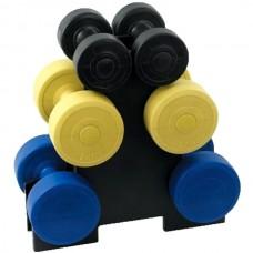 Набор гантелей cо стойкой HouseFit: 12 кг., код: DB0923