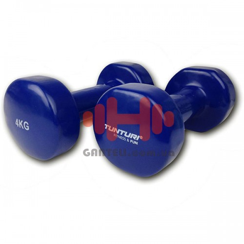 Гантели для фитнесса Tunturi винил 2х4 кг, код: 14TUSFU112