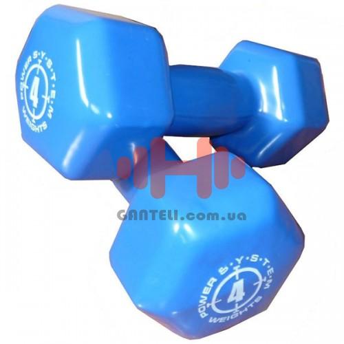 Гантель для фитнеса Power System 2х4, код: PS-4027