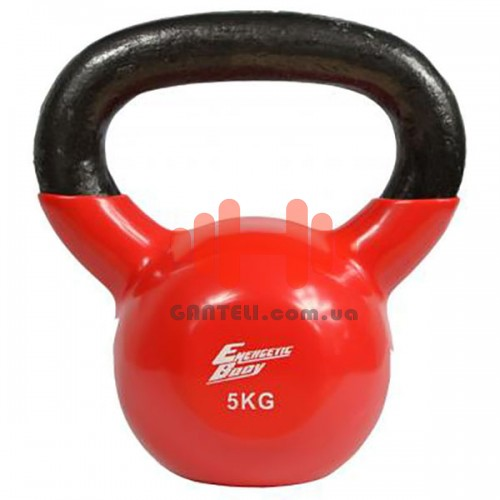 Гиря обрезиненная Energetic Body 5 кг., код: HD009