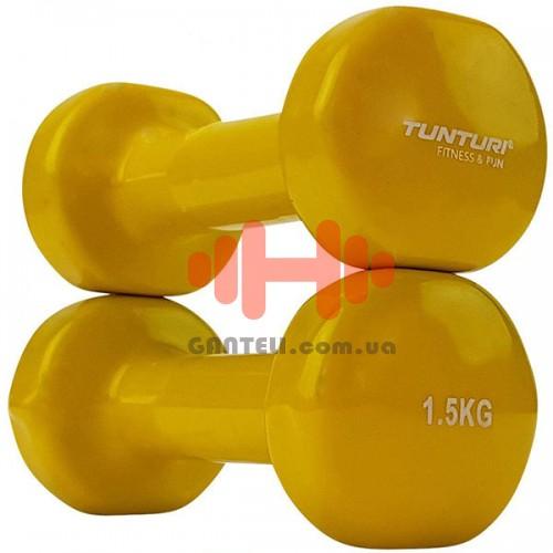 Гантели для фитнесса Tunturi винил 2х1,5 кг, код: 14TUSFU150