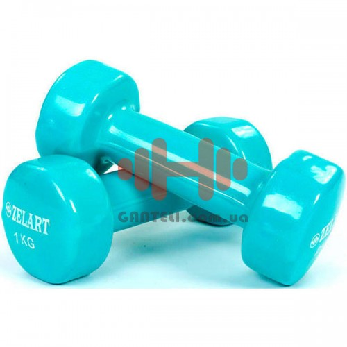 Гантели для фитнеса Zelart 2х1 кг, код: TA-5225-1