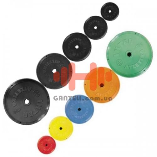 Комплект дисков InterAtletika 38 кг (металл D=25 мм), код: CT-521