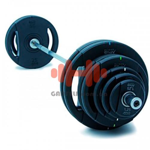 Комплект дисков Apus 105 кг (обрезиненные D=50 мм), код: AS-039