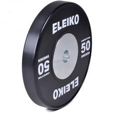 Диск обрезиненный Eleiko: для соревнований параолимпийский D=50 мм. 50 кг., код: 3001781-ХХ