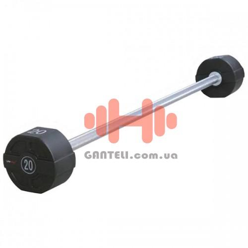 Штанга фиксированная Lifemaxx 10-40 кг., код: LMX74.S