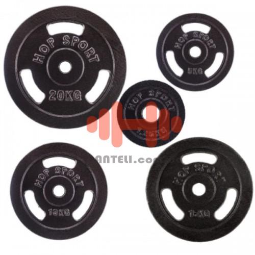 Комплект дисков Hop-Sport 105 кг. (металл D=30 мм), код: HD17XX