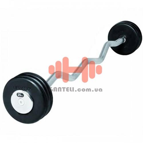 Штанга фиксированная Lifemaxx 10-40 кг., код: LMX78