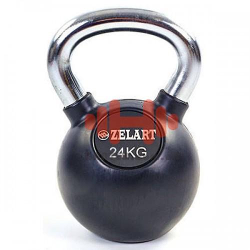 Гиря обрезиненная Zelart 24 кг., art: TA-5162-24
