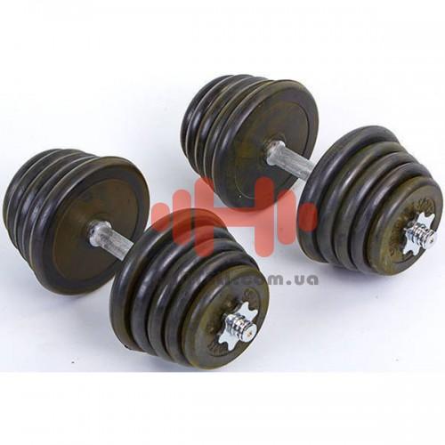Гантели CrossGym 2х20 кг, код: TA-0031-40R