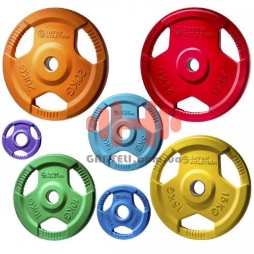 Комплект дисков InterAtletika 105 кг (обрезиненные D=50 мм), код: LCAH043-049