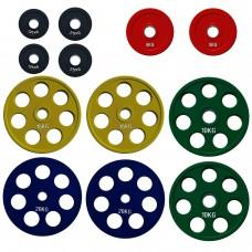 Комплект дисков Alex 105 кг (обрезиненные D=50 мм), код: RCP19
