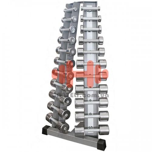 Гантельный ряд InterAtletika Gym Business 10 пар (1-10 кг.), art: BT410