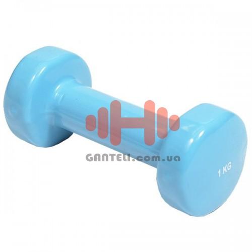 Гантель с виниловым покрытием HouseFit 1x1 кг, код: DD6948-1
