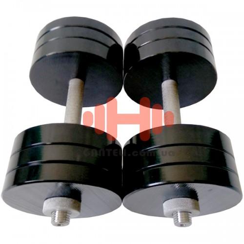 Гантель CrossGym 28 кг (пара), код: SG28