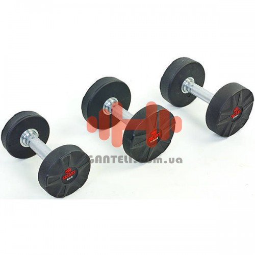 Гантельный ряд Zelart 6 пар (10-22,5 кг), код: DB6112-10-20