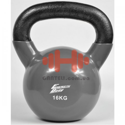 Гиря обрезиненная Energetic Body 16 кг., код: HD015