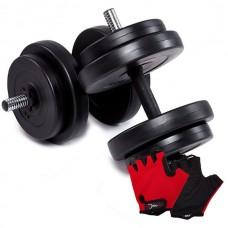 Гантелі CrossGym 2x16 кг + рукавички, код: 10713