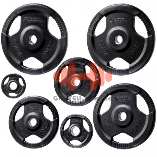 Комплект дисков InterAtletika 105 кг (обрезиненные D=50 мм), код: LCAH036-042