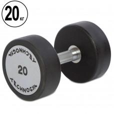 Гантель цельная профессиональная TechnoGym 1х20 кг, код: TG-1834-20