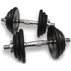 Гантели наборные Alex: 2 шт х 19,5 кг., код: DB-02-39