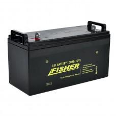 Гелевый аккумулятор Fisher 100Ah 12V, код: 100Ah