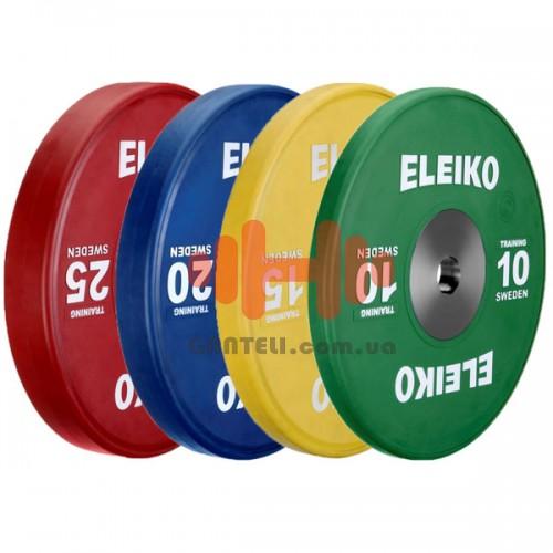 Комплект дисков Eleiko 140 кг (обрезиненный D=50 мм), код: 3001120-XX