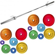 Штанга Olympic InterAtletika Color 125 кг., код: SH-36