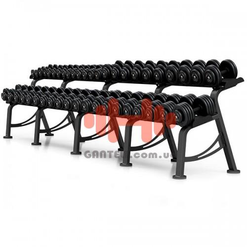 Гантельный ряд Marbo-Sport 6 пар (10-20 кг.), art: MP-SH4-46