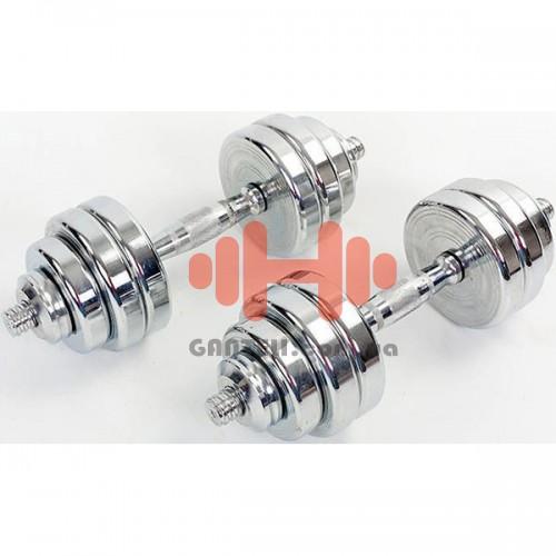 Гантели CrossGym 2х15 кг, код: TA-8007-30CH