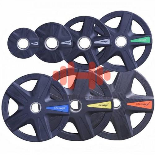 Комплект дисков Lifemaxx 105 кг (обрезиненные D=50 мм), код: LMX92