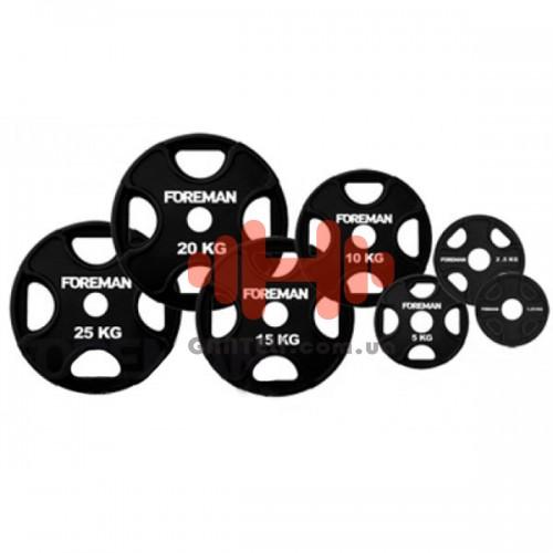 Комплект дисков Foreman 105 кг (обрезиненные D=50 мм), код: D-FP