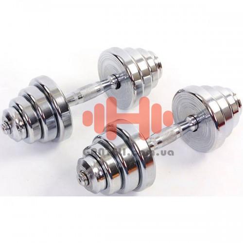 Гантели CrossGym 2х12,5 кг, код: TA-8007-25CH