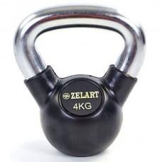 Гиря обрезиненная Zelart 4 кг., art: TA-5162-4
