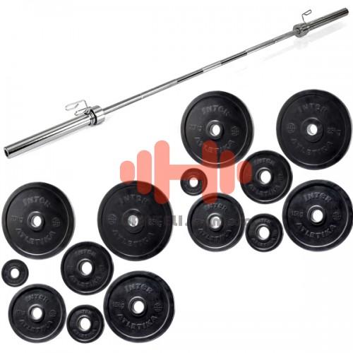 Штанга Olympic InterAtletika Black 125 кг., код: SH-33