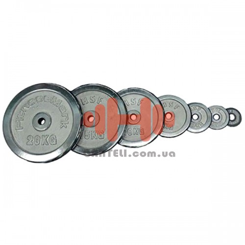 Комплект дисков HouseFit 108 кг (хром D=30 мм), код: DBC102